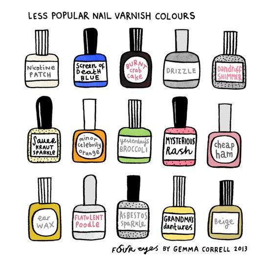 Less Popular Nail Varnishes Art Print