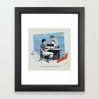 I Need You So Much Loser Framed Art Print