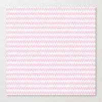 Pink Zigzag Design Canvas Print