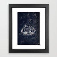 DARK GLOVES Framed Art Print