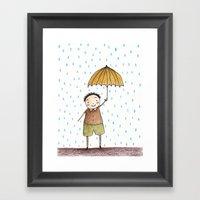 Rainy Afternoon Framed Art Print