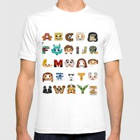 ABC3PO Mens Fitted Tee White SMALL