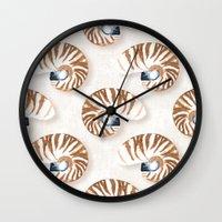 Nautilus - linen Wall Clock