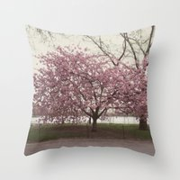 in bloom::nyc Throw Pillow