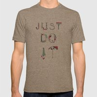 JUST DO IT  Mens Fitted Tee Tri-Coffee SMALL