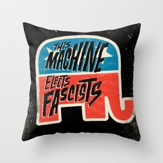 This Machine Elects Fascists Throw Pillow
