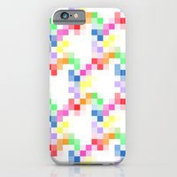 pixel iPhone & iPod Cases featuring Pixel by AJJ ▲ Angela Jane Johnston