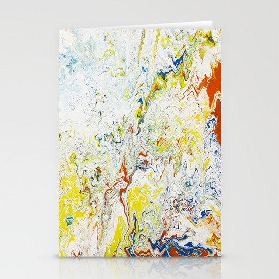 Gravity Painting 24 Stationery Card