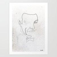 One line 007 (Sean Connery) Art Print