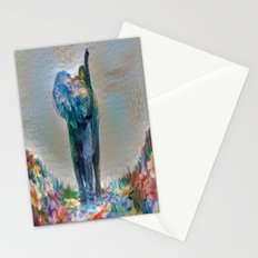 Elephant in my garden 2 Stationery Cards
