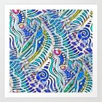 Under the Sea Abstract Nautilus  Art Print