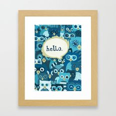 Hellowls Framed Art Print