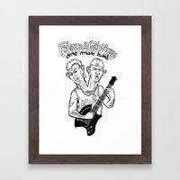 One man band Framed Art Print