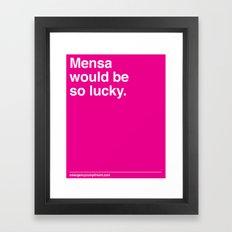 Mensa Framed Art Print