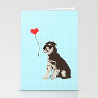 Miniature Schnauzer Dog Art Stationery Cards