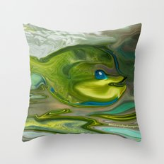 Smilen Sam The Fish...For Kids Throw Pillow