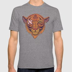 Eye of the Tiger Mens Fitted Tee Tri-Grey SMALL