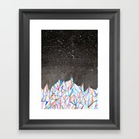 Crystal City At Night Framed Art Print