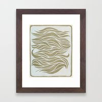Wave Lines Woodblock Framed Art Print