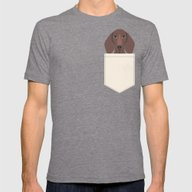 Piper - Dachshund, Weene… Mens Fitted Tee Tri-Grey SMALL