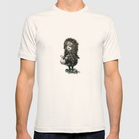 Hedgehog in the fog Mens Fitted Tee Natural SMALL