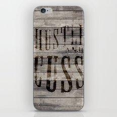 Hustle and Cuss iPhone & iPod Skin