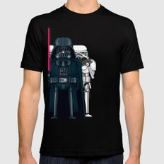 Darth Vader and Stormtroopers Mens Fitted Tee Black SMALL