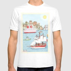The Harbor Mens Fitted Tee White SMALL