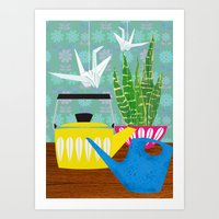 Still Life With Paper Cr… Art Print