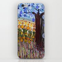 :: Indiana Blue Willow :… iPhone & iPod Skin