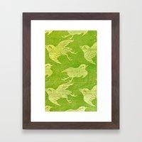 Asian Oriental Cranes Bi… Framed Art Print