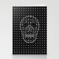 Triangle and Line Art Skull Stationery Cards