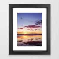 Sunset In Newport Beach Framed Art Print