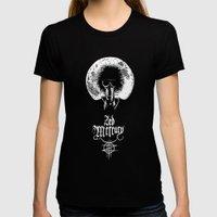 Zed Mercury: Psychopomp - Full Moon, DARK! Womens Fitted Tee Black SMALL