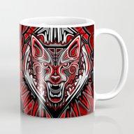 Wolf Tattoo Style Haida … Mug