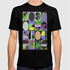 Crazy Grid - Pop Art, Geometric, Textured, Patterned Artwork Mens Fitted Tee Black SMALL