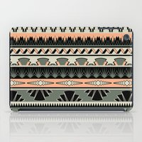 art deco stripes - salmon iPad Case