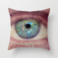 World Eye View Throw Pillow