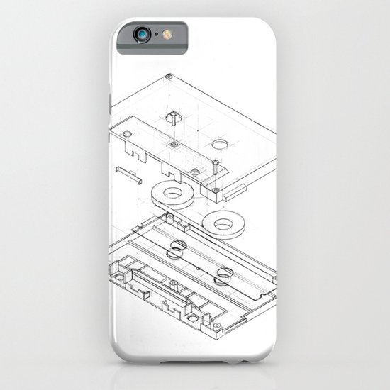 Exploded Cassette Tape  iPhone & iPod Case