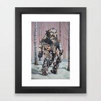 Catsquatch Framed Art Print