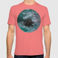 Big Sur Waves Mens Fitted Tee Pomegranate SMALL