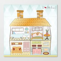 I {❤} Dollhouse Canvas Print