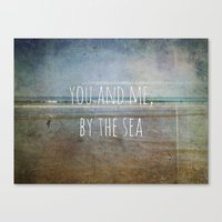 You And Me, By The Sea Canvas Print