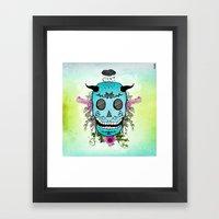 Rain Skull Framed Art Print