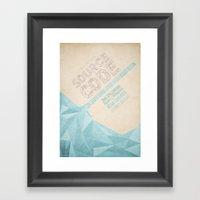 Source Code - Minimal Po… Framed Art Print