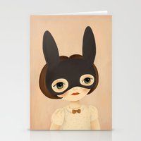 bunny Stationery Cards featuring Bunny by The Midnight Rabbit