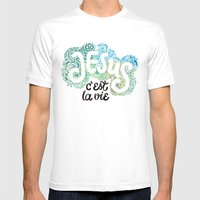 Jésus - c´est la vie Mens Fitted Tee White SMALL