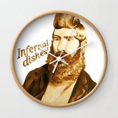 Infernal dishes Wall Clock