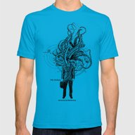 Yog Sothoth Mens Fitted Tee Teal SMALL