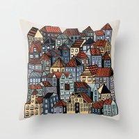 Little Town Throw Pillow
